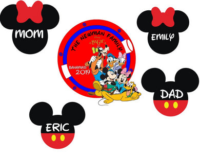 disney magnet set with family names