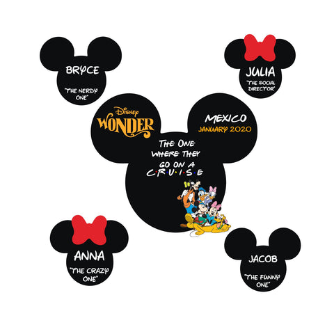 FRIENDS Disney Cruise Magnet Set