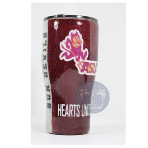 Custom College tumbler in your University colors
