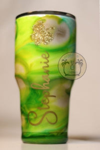 name ink swirl personalized tumbler