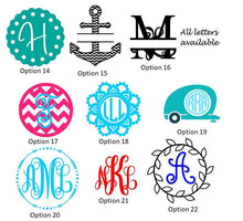 Load image into Gallery viewer, Personalized keychain wallet with monogram, 6 color options