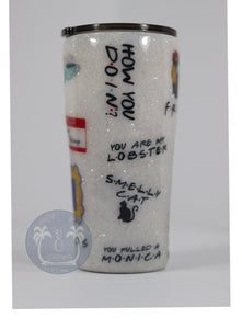 Friends TV Show Glitter Tumbler