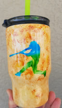 Load image into Gallery viewer, baseball tumbler baseball clay with name