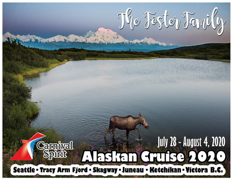 moose wading in lake alaska cruise door magnet decoration