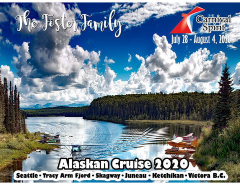 mountain river and float plane in alaska cruise door magnet decoration