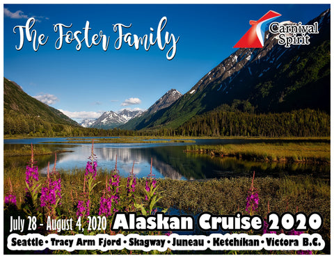 moutains and flowers alaska cruise door magnet decoration