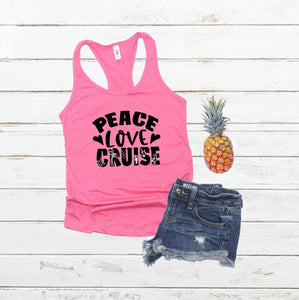 PEACE LOVE CRUISE tank top