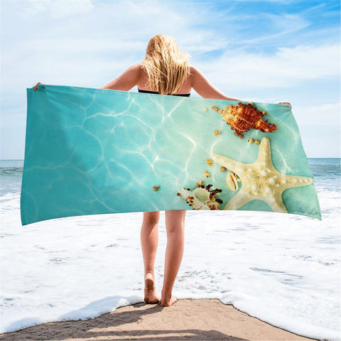 Beach Towels- Ocean reef and animals