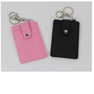 Personalized keychain wallet with monogram, 6 color options