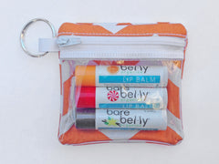 Key Chain Pocket - With 3 Lip Balms