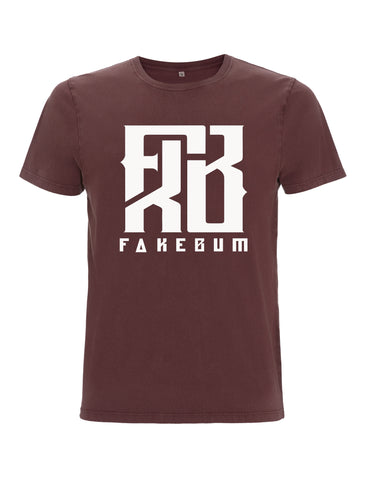 FKB Logo Burgundy - FakeBum Clothing