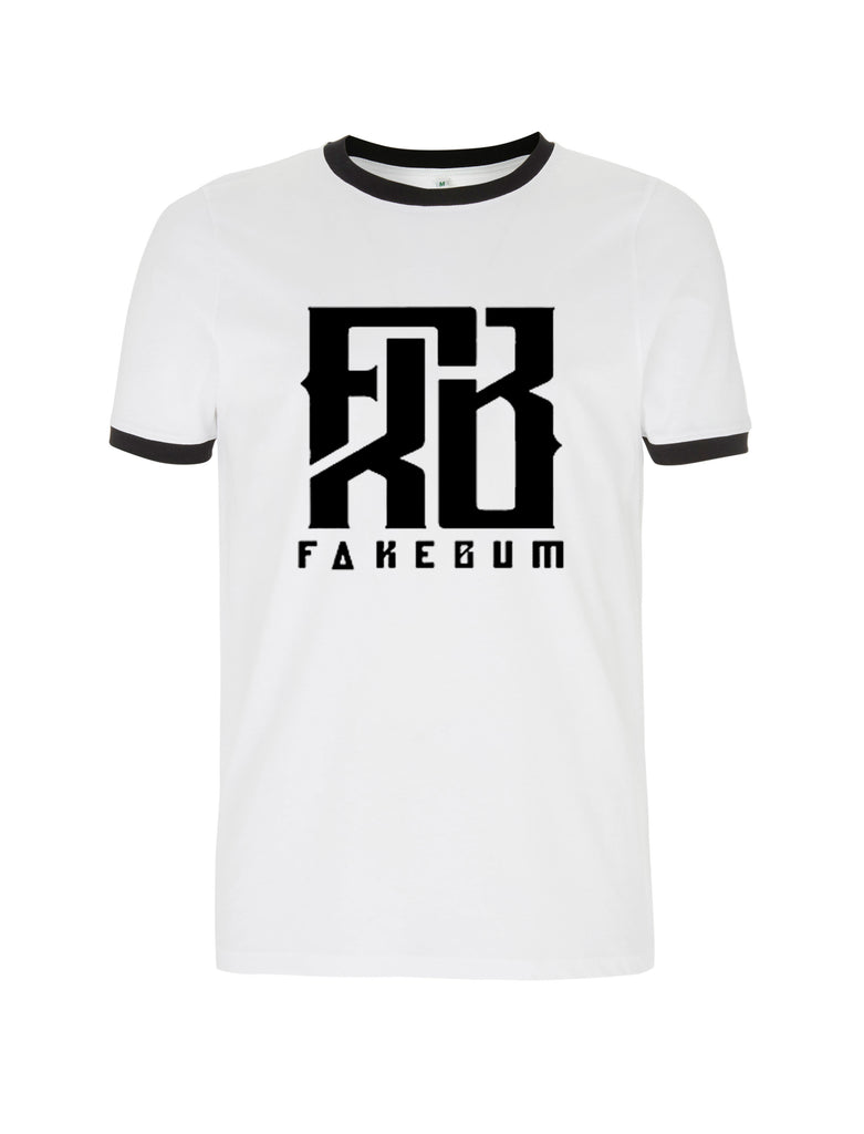 FKB Logo Ringer Shirt Black & White - FakeBum Clothing