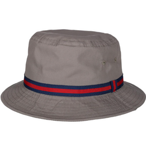 DORFMAN PACIFIC CLASSIC ROLL UP RAIN BUCKET HATS PLAIN COTTON GRAY / Size Type Large