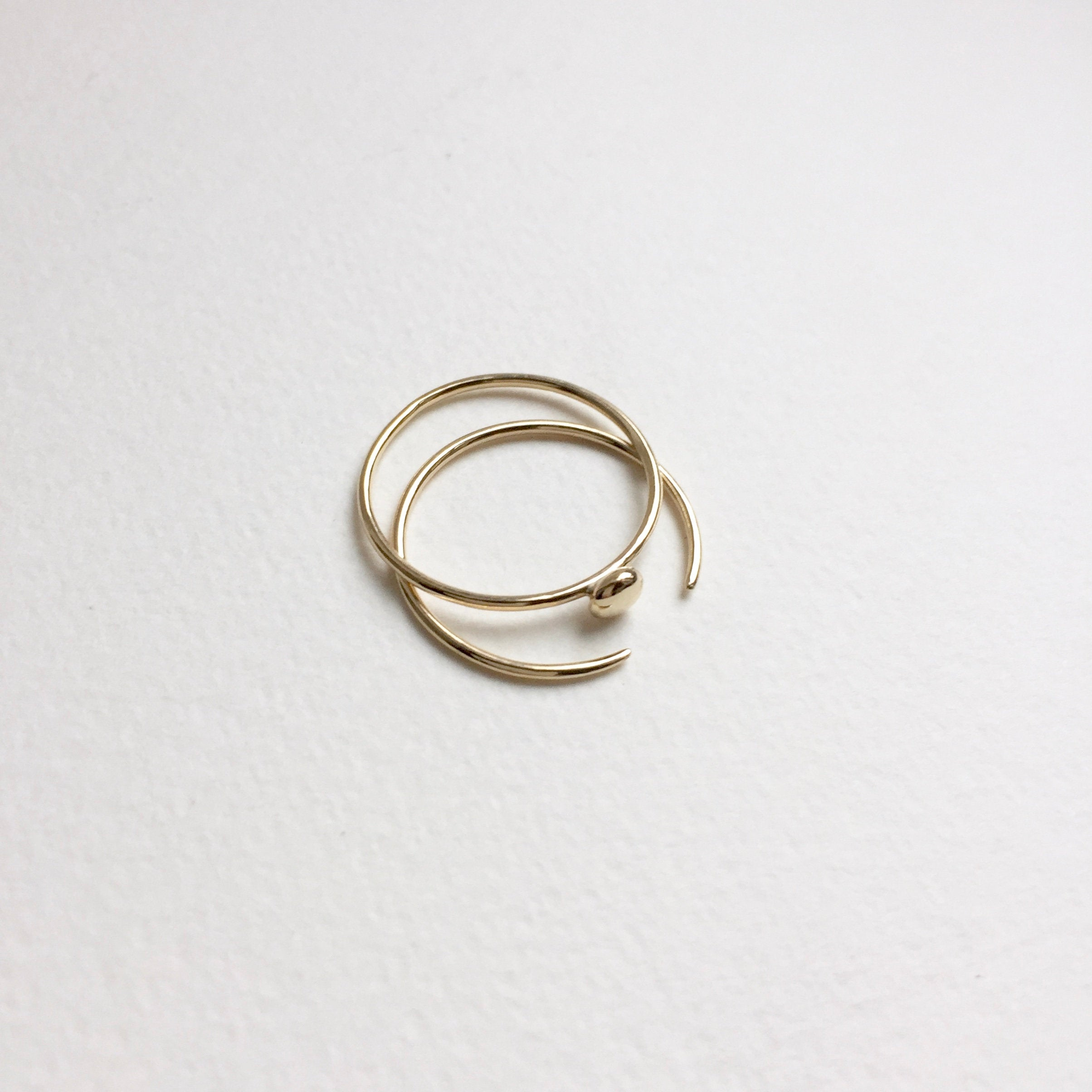 Pointed Open Ring