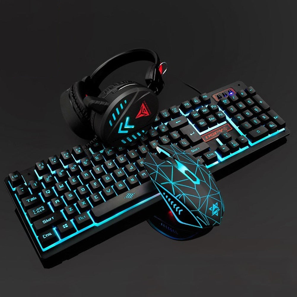 Illuminated Gaming Mouse Keyboard Set