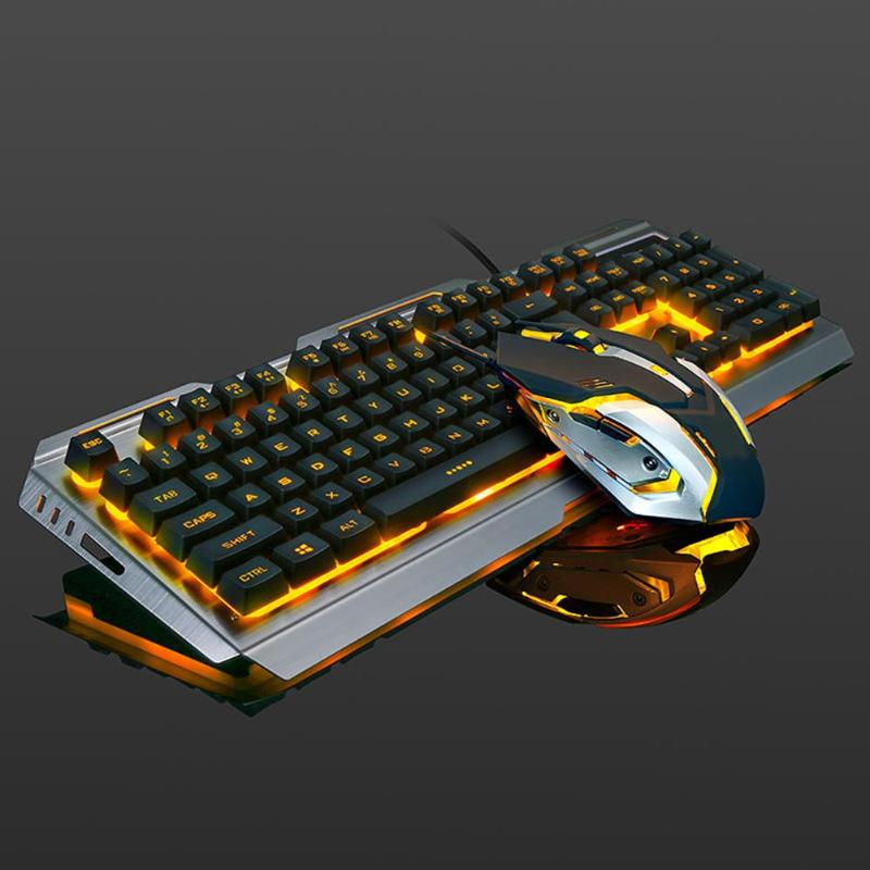 ALLOYSEED 104 keys Gaming Keyboard Mouse Set