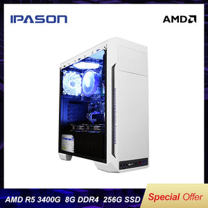 IPASON Cheap Gaming PC AMD Ryzen5