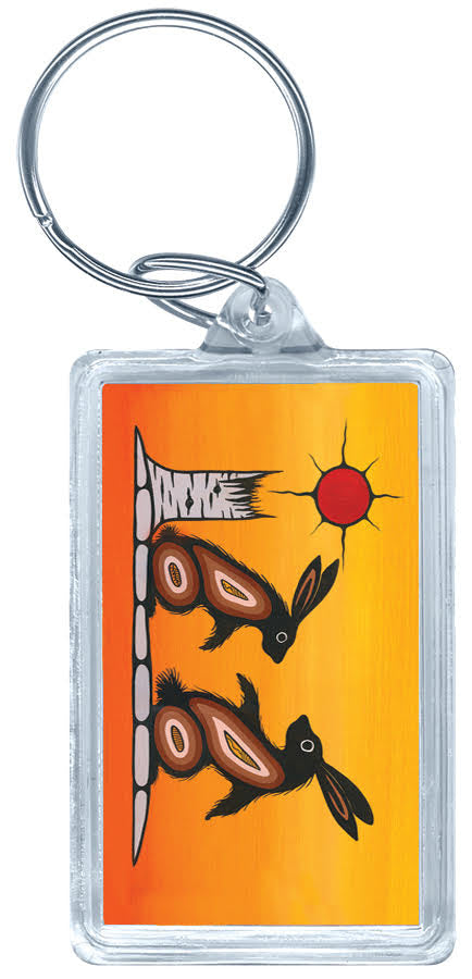 Acrylic Key Tag (Rabbits)
