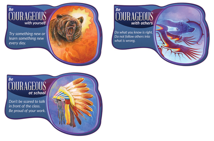 Seven Teachings Poster Set - Courageous