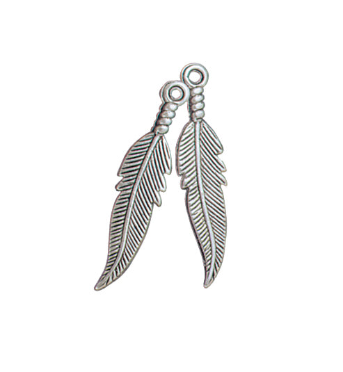 Antique Silver Plated Feathers