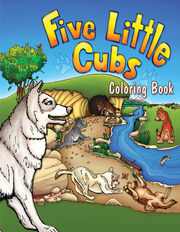 Coloring Book - Five Little Cubs