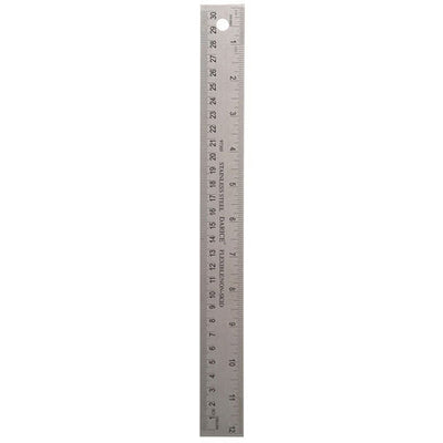 Ruler - Stainless Steel - 12 inches