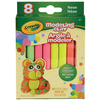 Modeling Clay Pack - Assorted Neon Colors - 8 Pieces