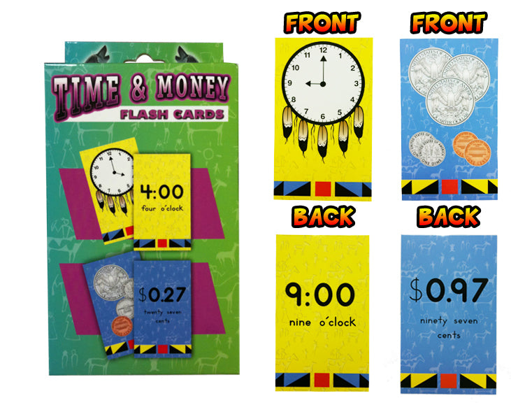 Time & Money Flash Cards