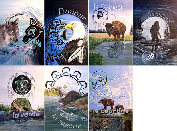 French Seven Teachings Poster Set