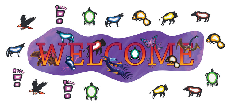 Large Welcome Banners With Decorations