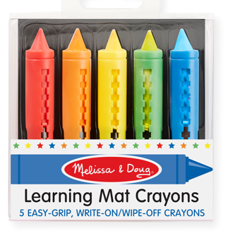 Learning Mat Crayons 5 Colors
