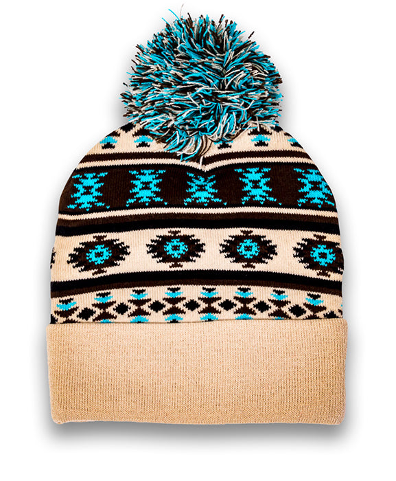 Knitted Artwork Tuque - Beige