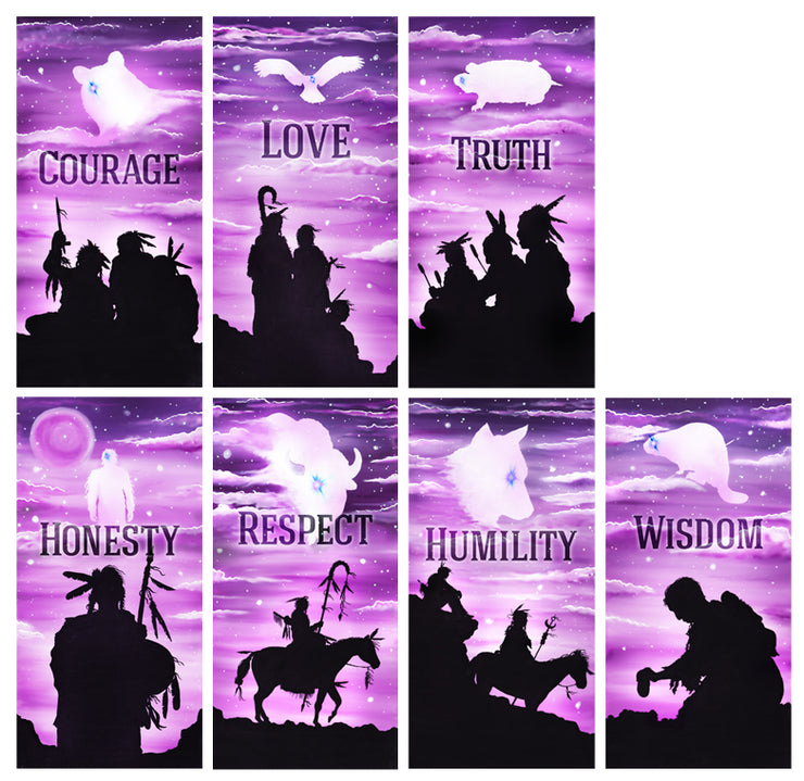 Warriors Seven Teachings Poster Set