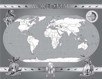 Tear-off Pad - World Map