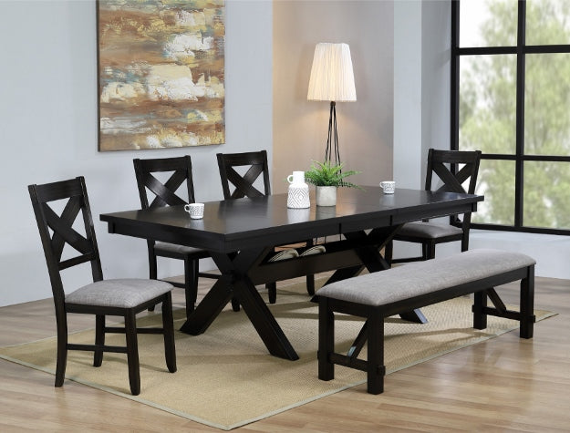 Havana Brown/Gray Extendable Rectangular Dining Table | 2335 - Best Discount