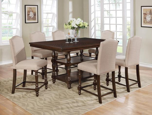 Langley Taupe Counter Height Set