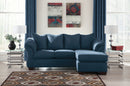Darcy Blue Sofa Chaise - Best Discount