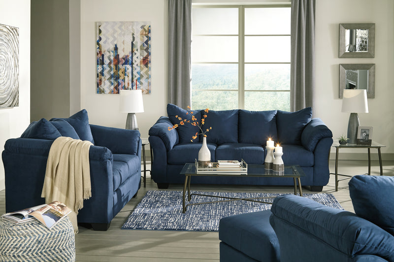 Darcy Blue Living Room Set - Best Discount
