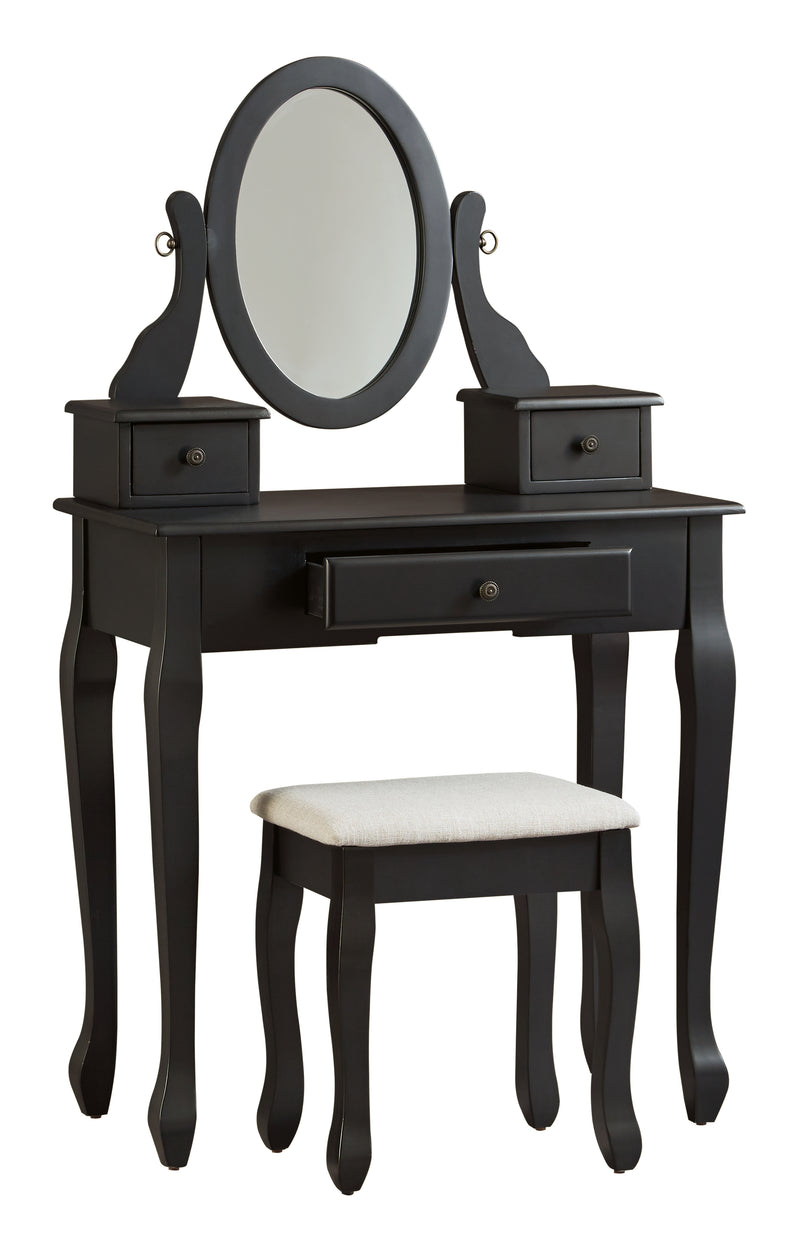 Huey Vineyard Black Vanity Set - Best Discount