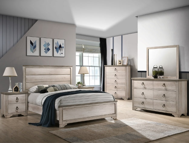 Patterson Driftwood Gray King Panel Bed - Best Discount