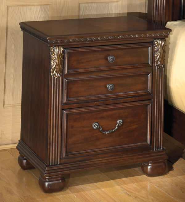 Leahlyn Warm Brown Two Drawer Nightstand - Best Discount