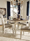 Realyn Chipped White Oval Dining Room Set - Best Discount