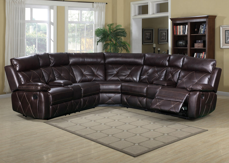 McKenzie Brown Reclining Sectional - Best Discount