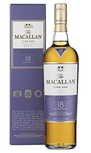Macallan Fine Oak 18 Years Old Highland Single Malt Scotch Whisky, 70 cl