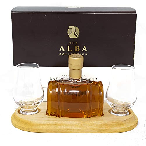 STYLISH WHISKY Small Barrel Whisky with Two Glasses, 20 cl