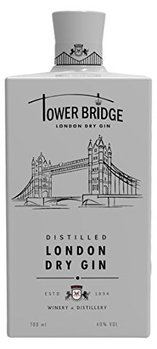 Tower Bridge London Dry White bottle, 70 cl Gin