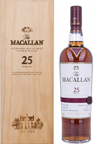 Macallan 25 Year Old Single Malt Scotch Whisky, 70cl 2019 Release
