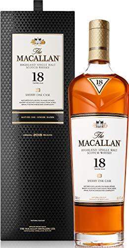 Macallan Whisky Sherry Oak Malt 18 Year Old, 70cl