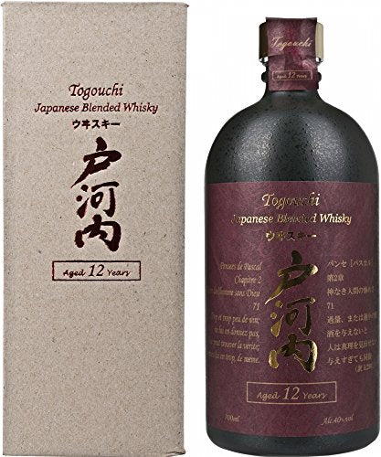 Togouchi Chugoku Jozo 12 Year Old Japanese Whisky 70 cl