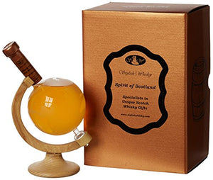 Highland Malt Mini Small World Globe on Glass Stand Blended Whisky, 20 cl